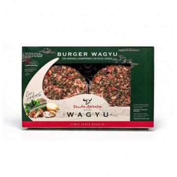 Burger de Wagyu con verduras y setas 2 x 125 grs