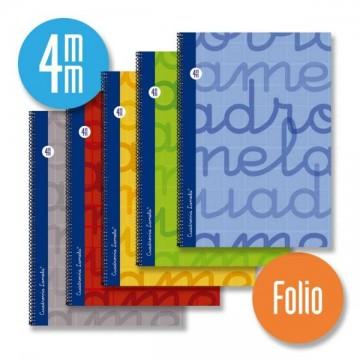 Cuaderno Lamela folio, espiral 3-4-5 y 2,5 mm