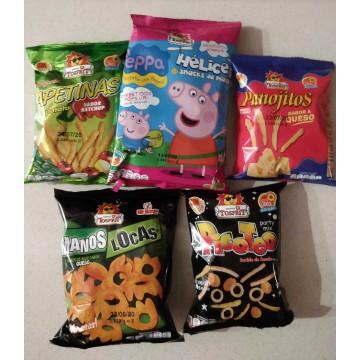 TOSFRIT - Pack 5 bolsas pequeñas de snacks