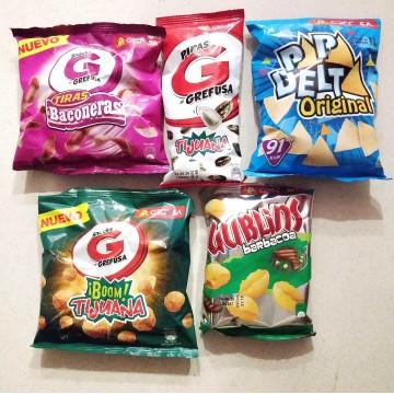 GREFUSA - Pack 5 bolsas pequeñas de snacks