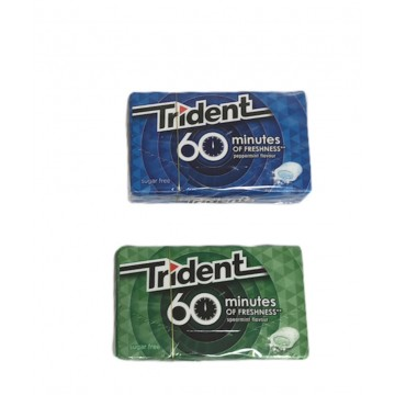 2 Uds CHICLES TRIDENT 60´