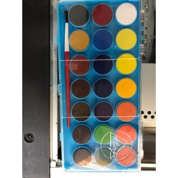 Acuarelas en pastilla, 21 colores
