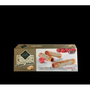 CIGARRILLOS DE TOLOSA CON FRAMBUESA 85 gr./ud.