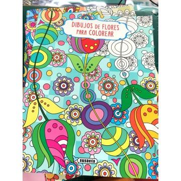 Libros de mandales motivos florales