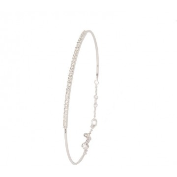 PULSERA RIGIDA ORO BLANCO BRILLANTES 0.30CT