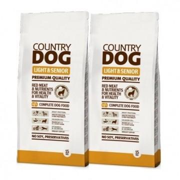 Country Dog Food Light & Senior 15kg (x2)