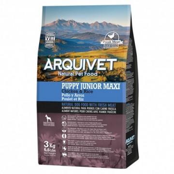 Arquivet Dog Puppy Junior Maxi / Pollo Y Arroz 3 Kg