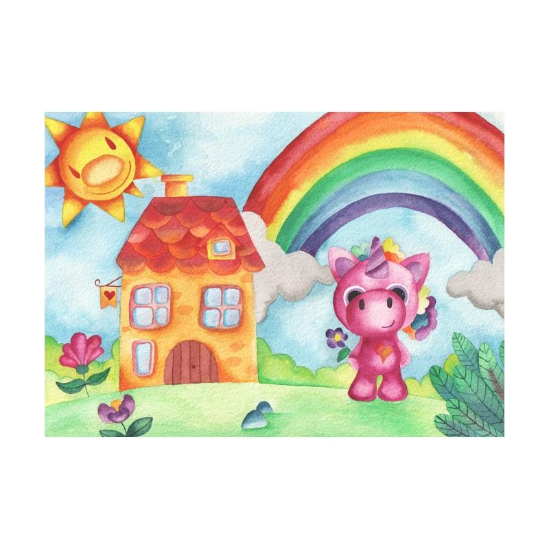 Lámina unicornio Arcoíris