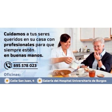 Servicios de limpieza, comida y asistencia personal a partir de 6 horas a la semana.