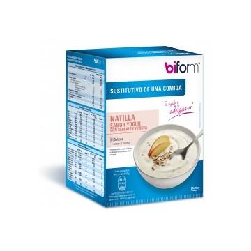 Crema yogur con cereales y fruta