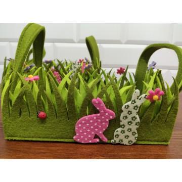 Set cestas rectangular fieltro primavera
