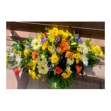Centro funerario colorido