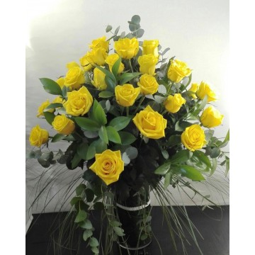 Ramo 36 rosas en vidrio