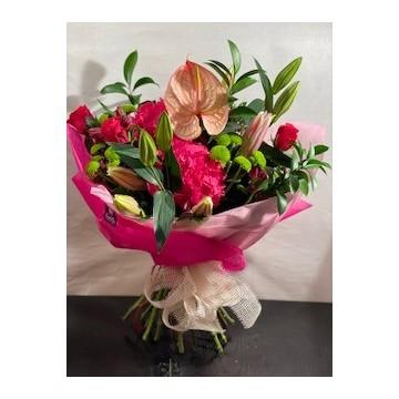 Ramo variado hortensia, lilium, anthurium, rosas,...