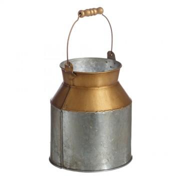 Macetero oro - gris